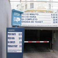 Rótulo cartel Parking Málaga