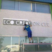 Eco Creation CEE, Rótulo letras corpóreas en acero inoxidable Sevilla